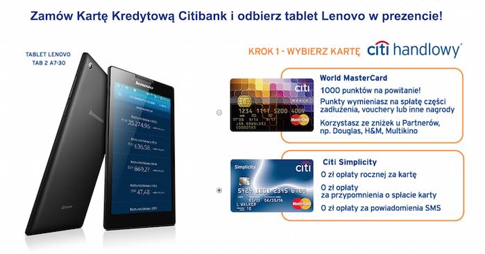 promocje bankowe tablet lenovo a7-30 od citibank